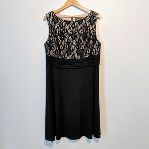 NWOT Sequin Top Black Dress